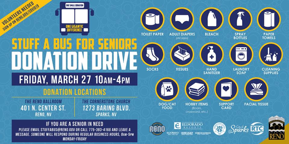 Infographic for Stuff A Bus Senior donation drive