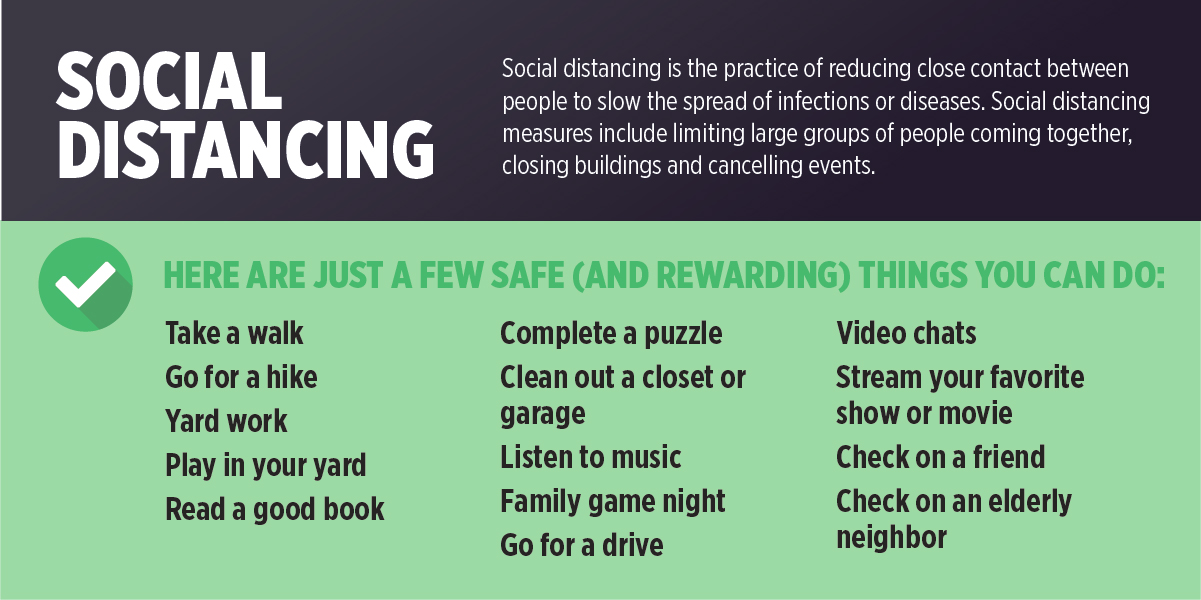 Safe ways to social distance during COVID-19